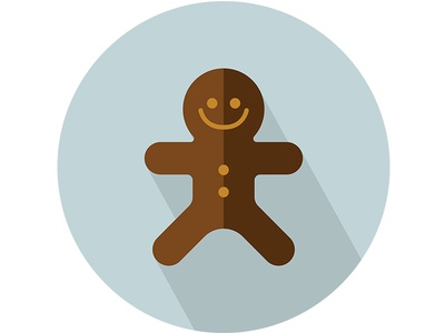Ginger Bread- Flat Vector Isolated Icon
