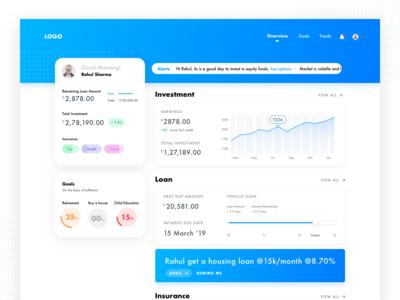 Concept Dashboard for Wealth Management
