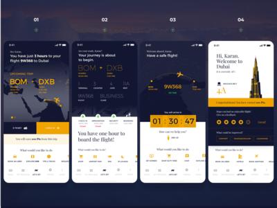 Airline travel journey