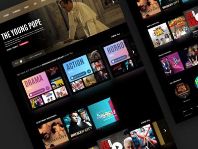 Entertainment Website Concept