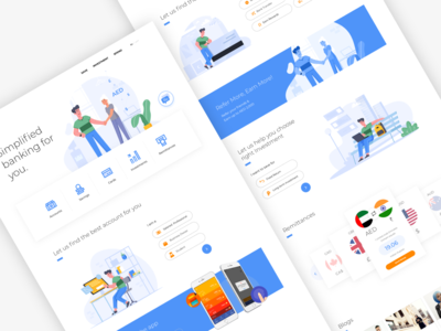 Bank website concept