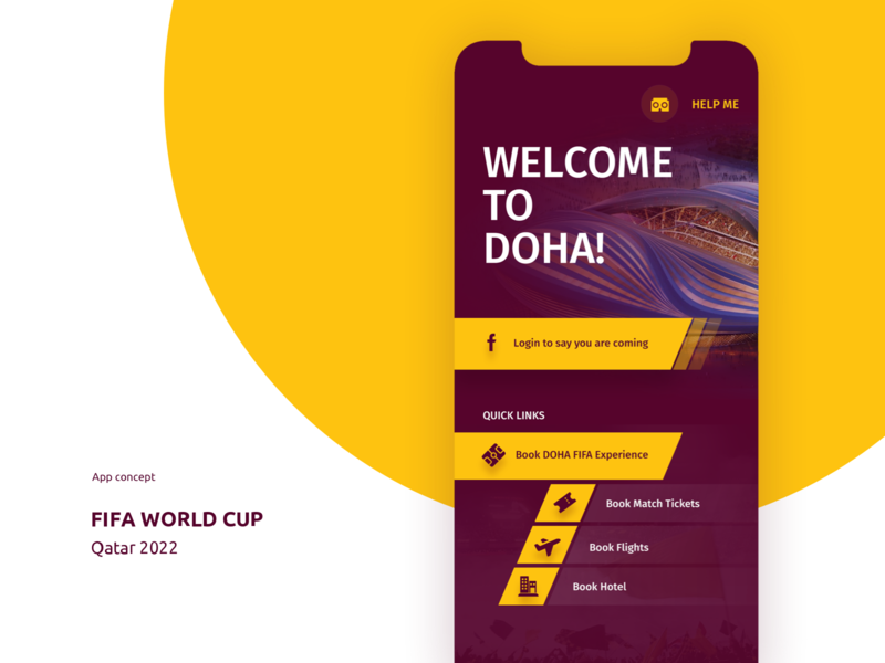 Fifa World Cup 2022 App Concept icon flat clean minimal illustration sketch vector uiux branding design ui ui pack