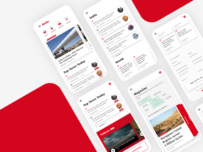 News App Concept sketch ui pack ux minimal flat clean concept vector uiux homepage ui newsletter news feed newspaper newsapp news