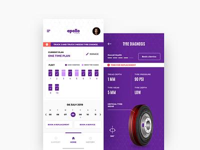 Tyre Maintainence App Concept clean flat uiux concept vector sketch design ui ui pack service maintainence servicing app