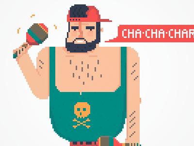 Pixel Maraca rockstar pixel art maracas