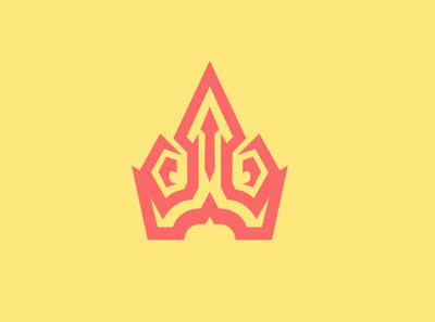 """Crown"" Logo typography icon vector logo ui ux illustration esportlogo branding crown logo crown"