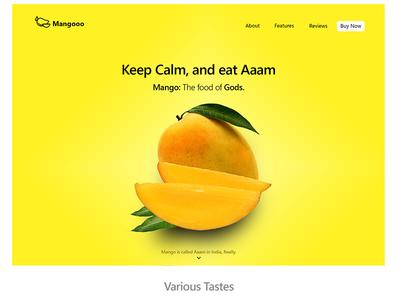 Mango landing page