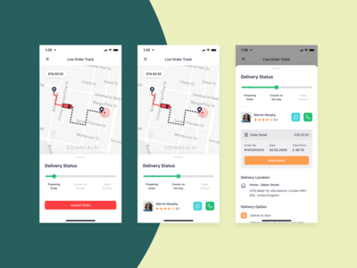 Bringova - Live Order Tracking grocery food app map order detail courier driver delivery status delivery app status order tracking order track live ios user experience iphone x mobile app ux ui design