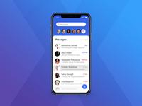 iPhone X - Message App
