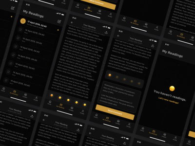 Faladdin - My Readings [ Fortune Teller Mobile App Concept ]