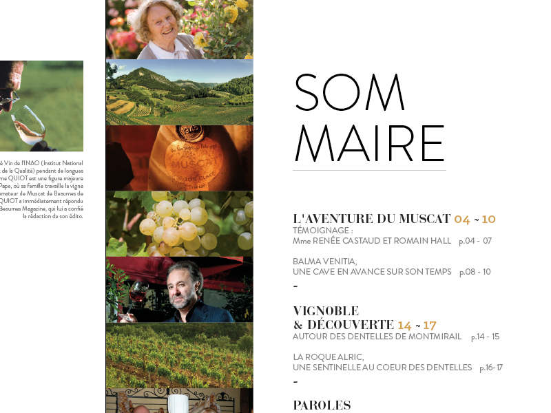 Sommary magazine edition book typography layout