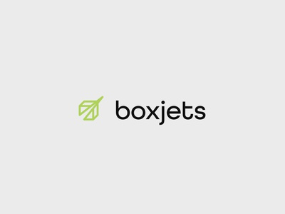 Boxjets logo for a fast delivery service icon logotype minimalism brand design brand identity logo branding
