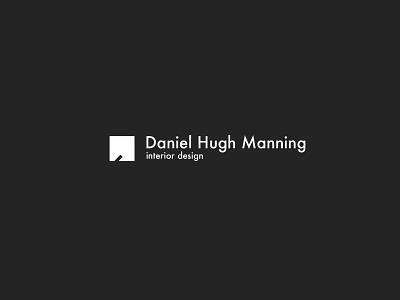 Logo Daniel Hugh Manning - Interior designer minimalism simple architechture negative space interior logo branding