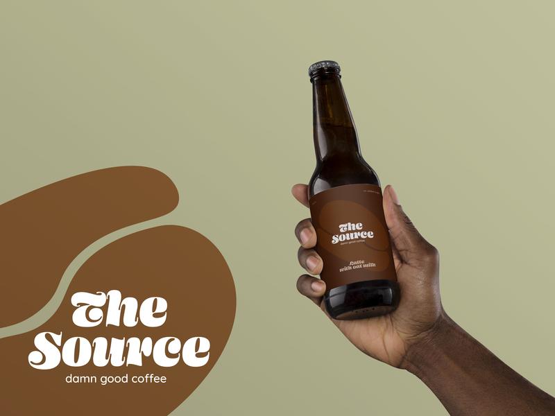 The Source -  Damn Good Coffee - Logo brand identity design brand design brand identity sobidesign serif logo serif sustainable bottle coffee logo branding