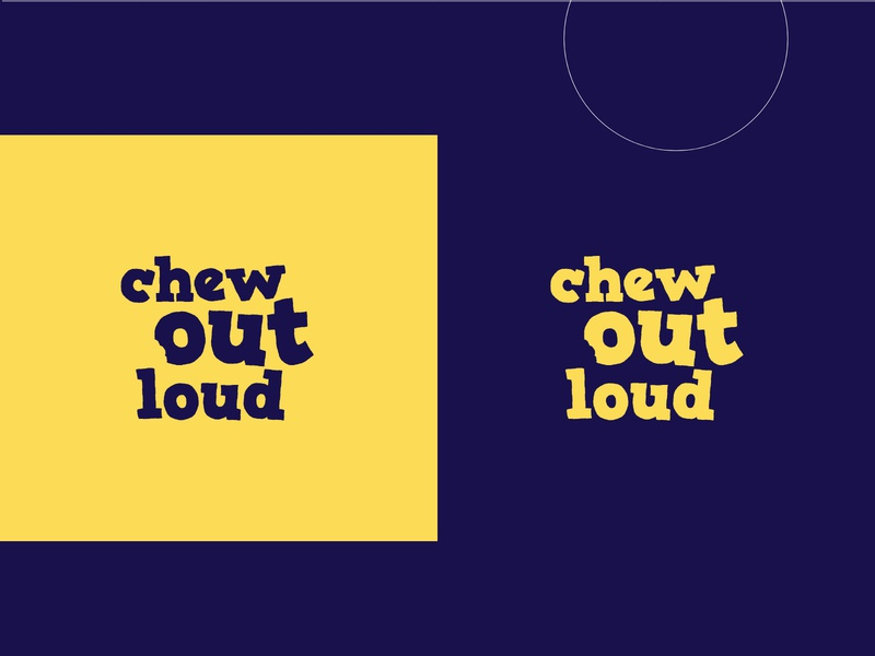 Chew out loud - Logo for a food blogger kid mom food fun chewoutloud chew adobeillustrator typography logotype minimalism design brand design illustration brand identity logo branding