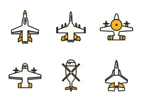 Fighter Jet Icons