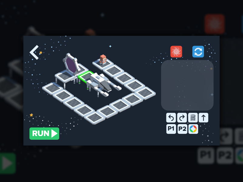 Nova Game babel screen mobile ux ui app programming kids run space game