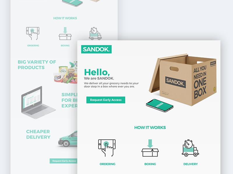 SANDOK. Landing Page 003 dailyui products ux ui website app box ordering landing ecommerce grocery