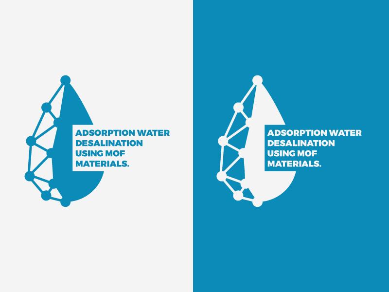 MOF Logo points text water blue 2d branding logo