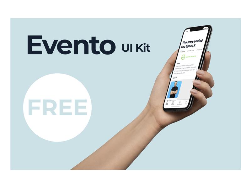 Evento UI Kit [FREE] android ios event design 2d ux screen mobile ui free ui kits