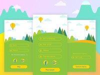 Mova App Sign In Screens
