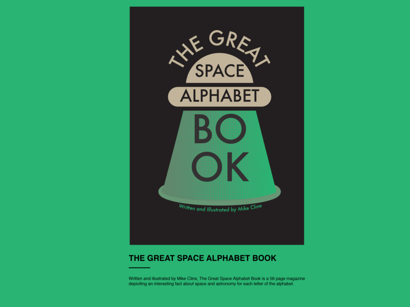 The Great Space Alphabet Book editorial illustration editorial design flat typography design vector illustration