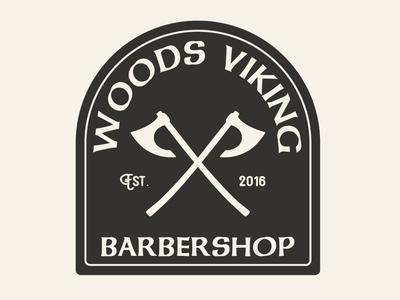 Woods Viking Apparel Design vector logo flat branding design illustration