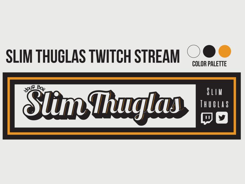Slim Thuglas web twitch typography logo flat branding design vector illustration