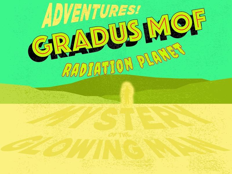 Gradus Mof Poster flat design vector illustration