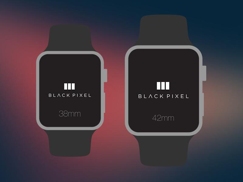 The Black Pixel Apple Watch PSD wearables psd template watch apple