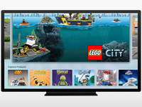 LEGO Apple TV App - Home screen