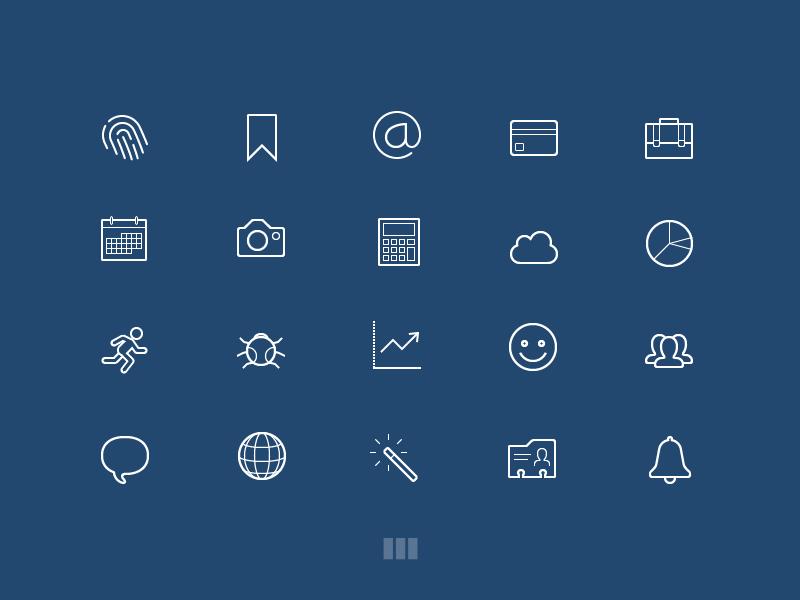 BPXL Icons - Starter Set flat freebie icon bpxl png eps resource free set icons