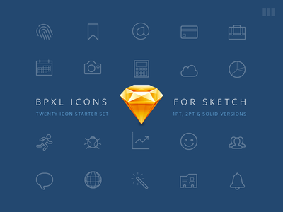 BPXL Icons for Sketch solid outline set resource icons icon freebie free flat vector sketch bpxl