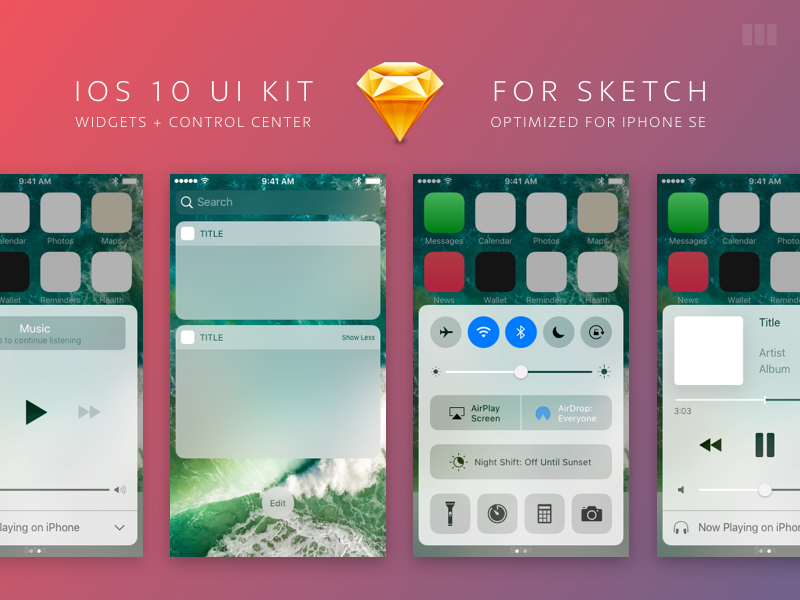 iOS 10 UI Kit for Sketch by Black Pixel on Dribbble