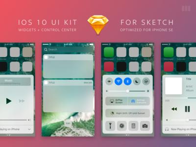 iOS 10 UI Kit for Sketch apple ios 10 kit ui sketch iphone