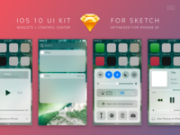 iOS 10 UI Kit for Sketch