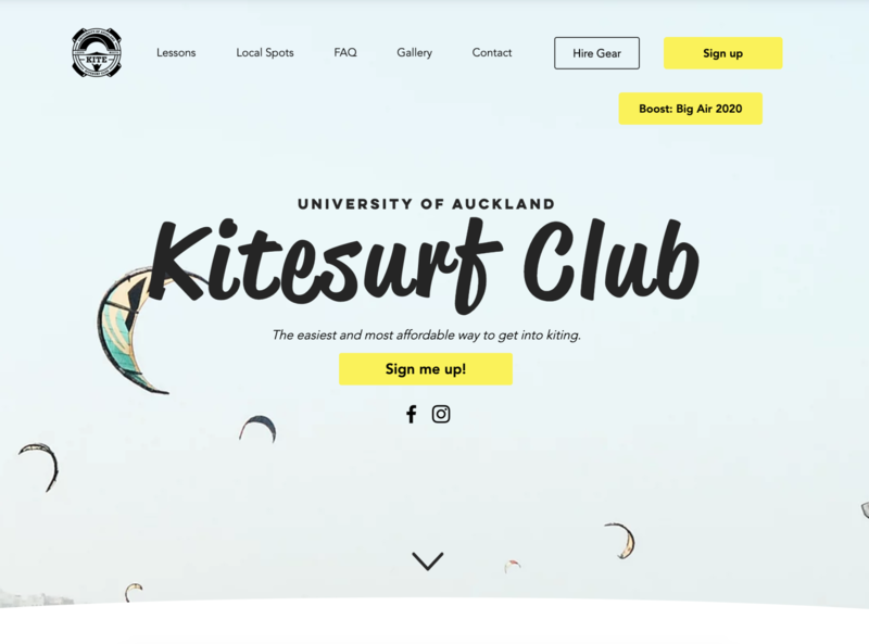 Kitesurf Club Landing Page