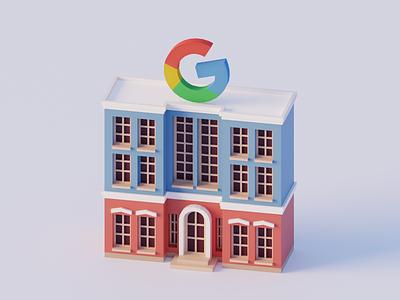 Google Building building university college google house illustration design 3d