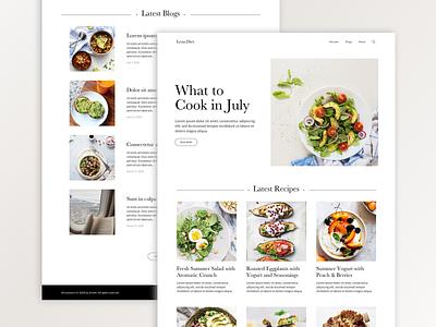 Food Blog uiux ui branding lean foodies foodie food and drink healthy blog food