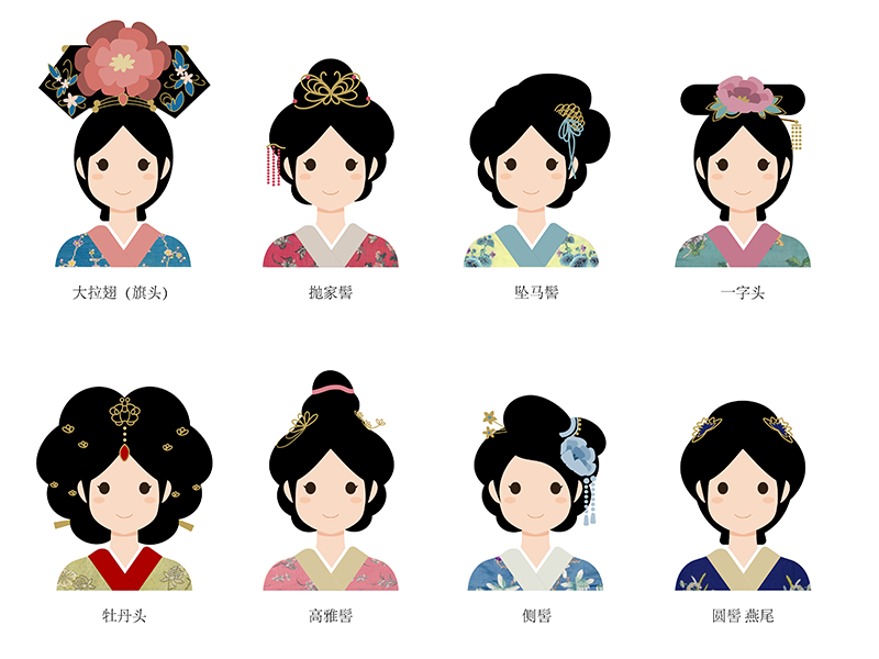 Ancient Chinese Hairstyle Illustration Hairstyle