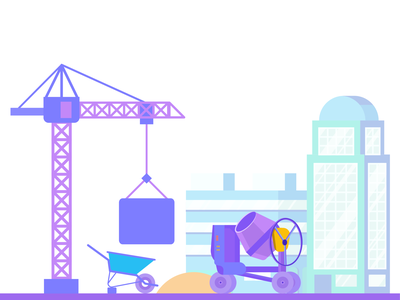 Construction illustration brand mixer crown construction company branding construction worker vector business construction website crane charackter building construction illustration construction isometric illustration