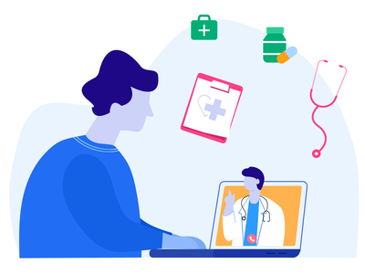 Online Medical Consultation online medical consultation online medical consultation digital illustration character design vector doctor communication consultation with doctor doctor treatment online treatment live doctor consultation healthcare diagnosis consultation patients medical medicine character