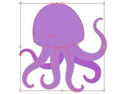 I am rejected vector softfacade rejected purple octopus mnml wip