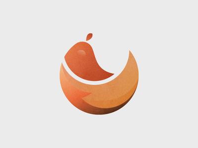 Little Chicken Logo gradient icon red circle graphic logo chicken