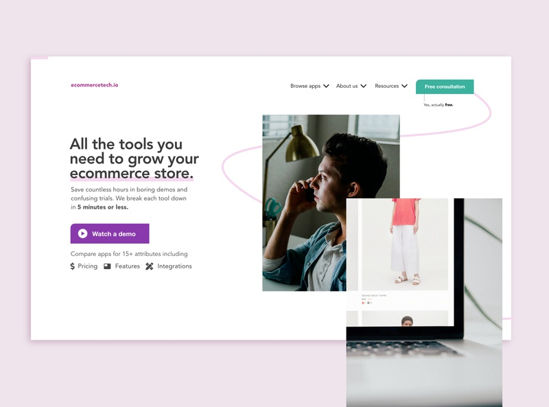 Ecommcerce Apps Review Website Redesign