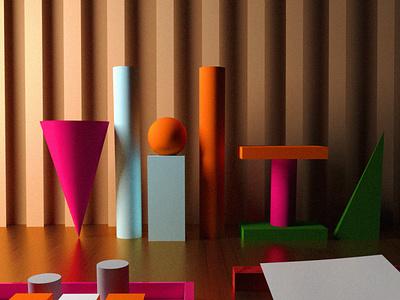 Experimenting with 3D shapes shape layers shapes 3d creative graphic design 3d graphic 3d design 3d art