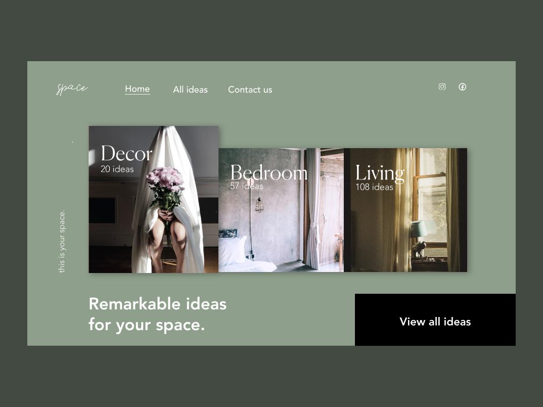 UI Concept Design| Ideas for Home & Kitchen invisionstudio invision web home page ux typography shopify fashion ecommerce branding design ui