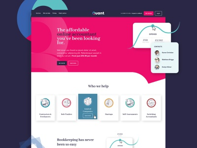 The Affordable Accountant - Quant - Website design web design website web typography vector logo branding design limely