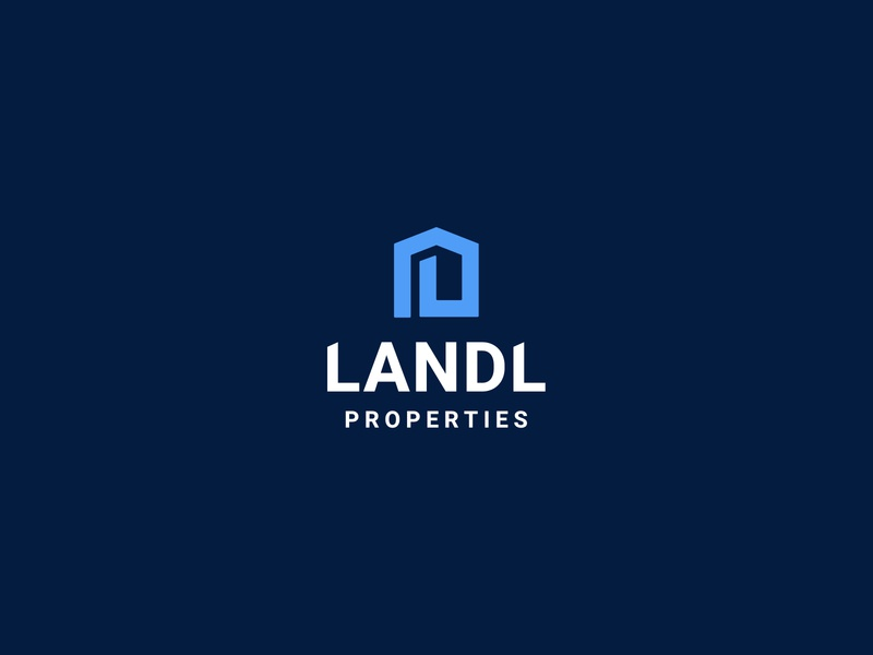 Landl Properties logo properties property brand logo branding illustration design limely