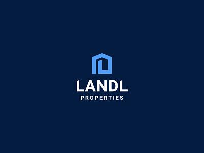 Landl Properties logo properties property brand logo branding illustration design limely